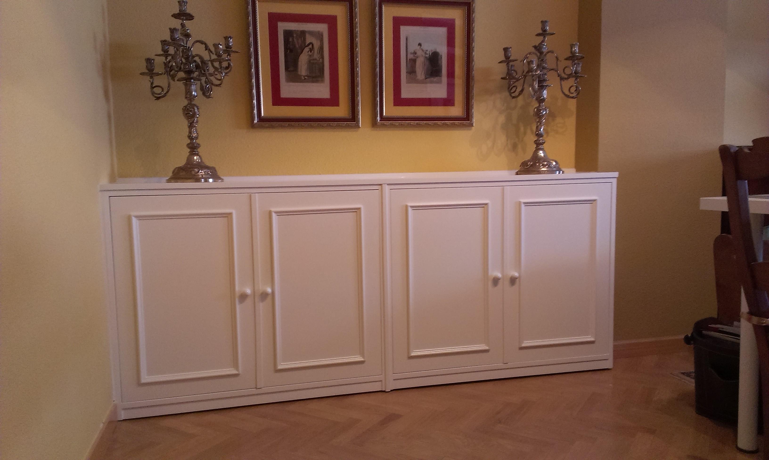 Mueble lacado blanco para sal n for Mueble salon lacado blanco
